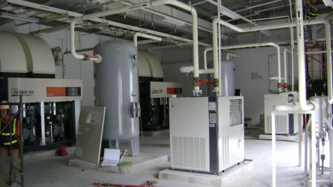 Lắp đặt hệ thống máy nén khí Hitachi 150kw