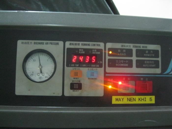 Màn hình điều khiển máy nén khí trục vít có dầu Hitachi từ 7.5kw - 110kw